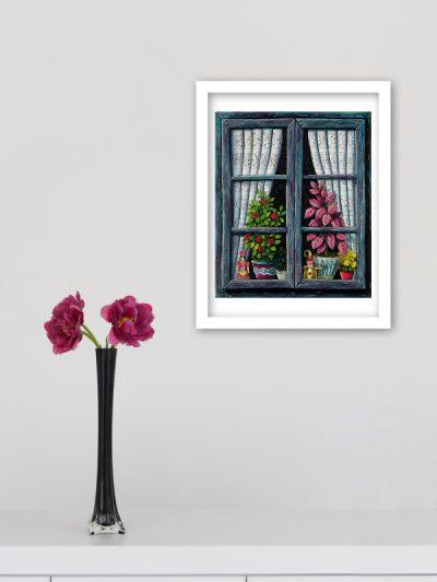 A01 La finestra blu 24x30 Elio Nava