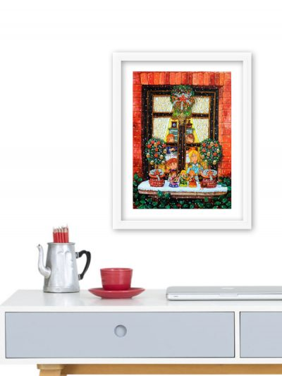 A07 Finestra natalizia 24x30